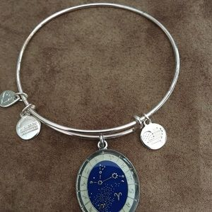 "NWOT AUTHENTIC ALEX & ANI ""ARIES"" CHARM BANGLE"